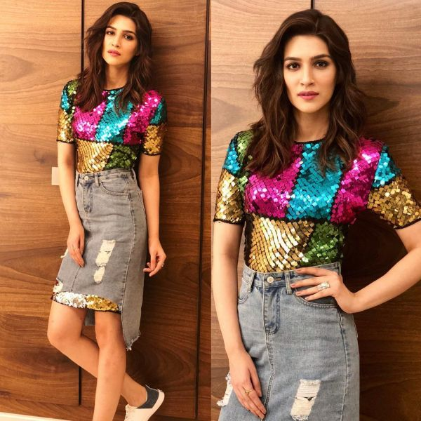 1 denim skirt - kriti sanon skirt dress