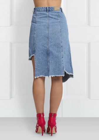 3 denim skirt - asymmetrical skirt