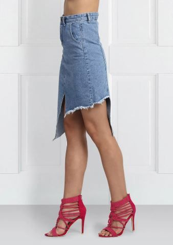 4 denim skirt - skirt on sale online