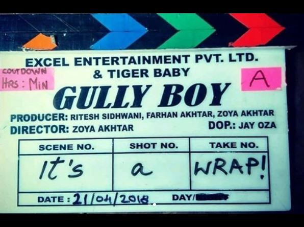 gully boy  ranveer singh  ranveer  zoya akhtar  alia bhatt  gully boy wrapped up