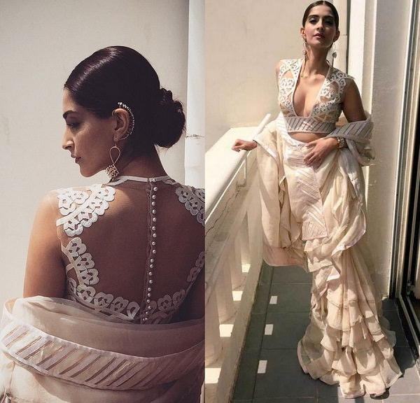 off shoulder pallu sonam kapoor in abu jani 1