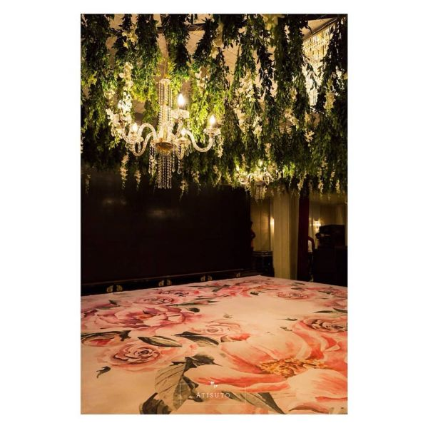 atisuto events floral print dance floor