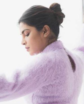 4 a priyanka chopra instagram bun hairstyle natural hair snow days
