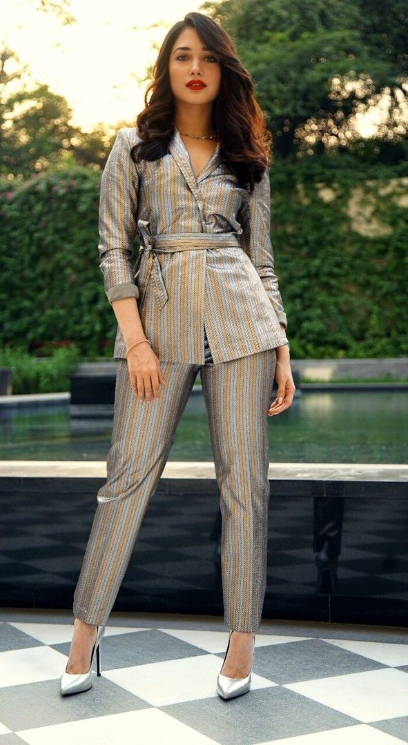weekend that was 28 29 april tamannaah bhatia in metallic suit