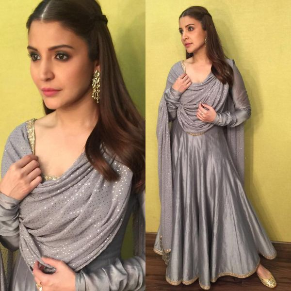 10 anushka sharma - grey indian suit