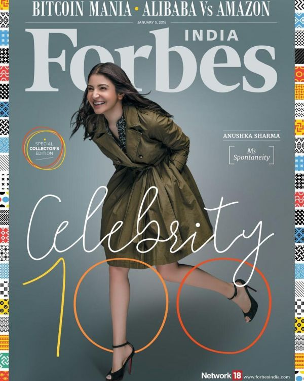 6 anushka sharma on forbes  anushka  virushka  virat kohli  birthday