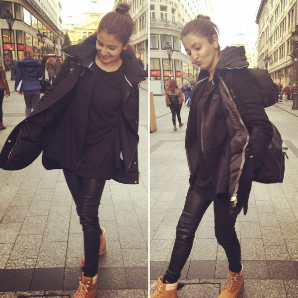8 anushka sharma - all black everything winter