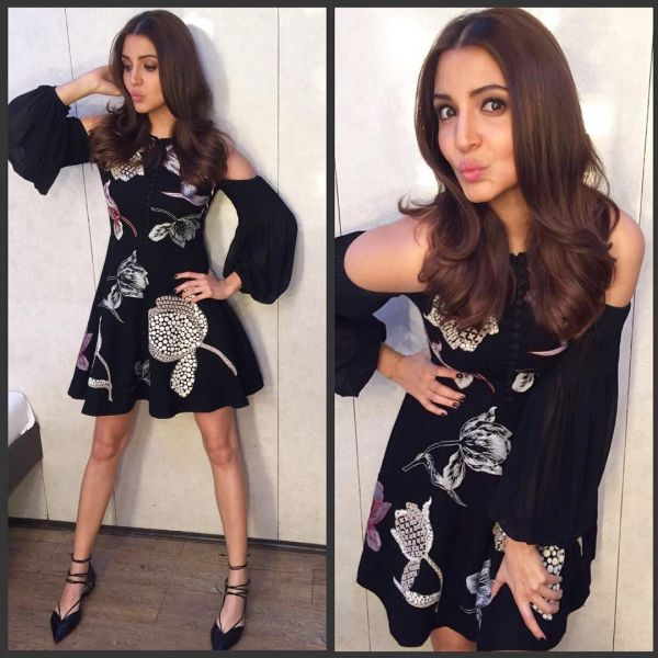 9 anushka sharma - little black dress