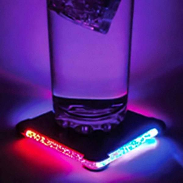 7. birthday gift ideas for boyfriend multicolour LED coaster