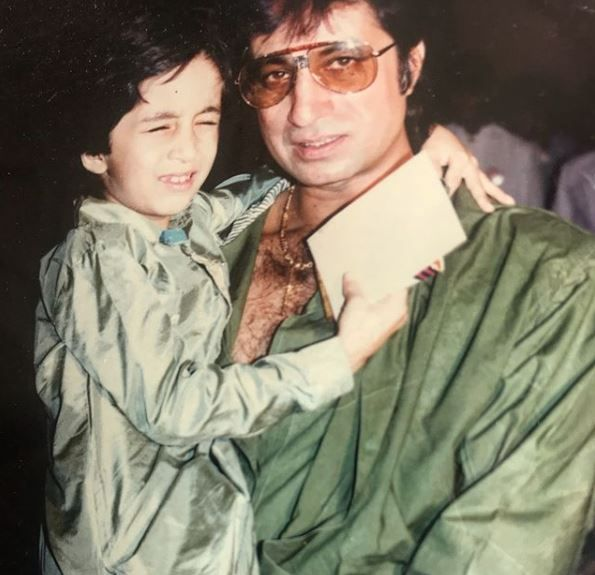Siddhanth Kapoor with father shakti kapoor at his birthday party