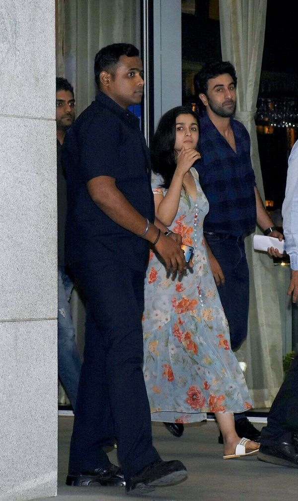 1. Alia and Rabir kapoor on a dinner date