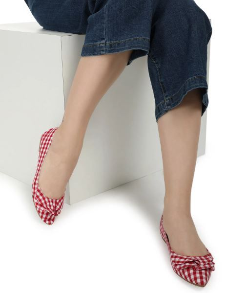 4. red gingham flats lulu and sky always on sale