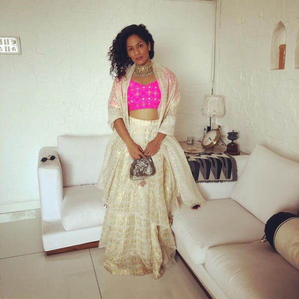 masaba gupta in house of masaba colourful at sonam mehendi