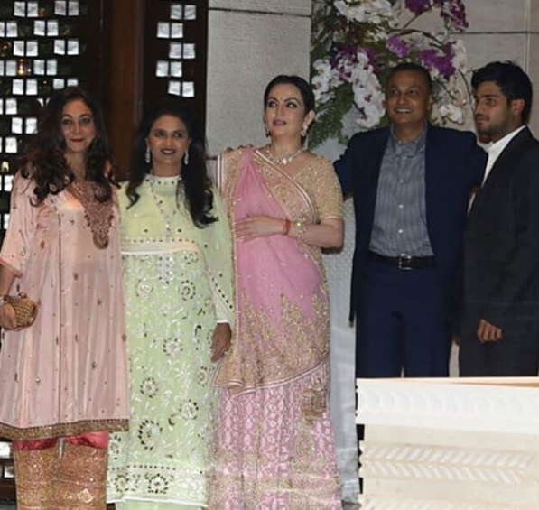 anil and tina ambani at isha engagement