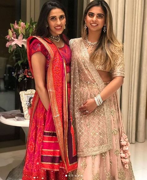 isha ambani with shloka mehta