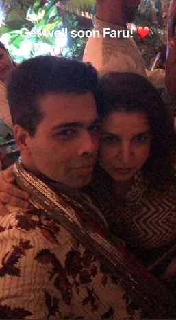 5 karan johar and farah khan at sonam's mehendi