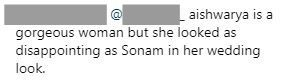 3 mean comment on sonam kapoors wedding