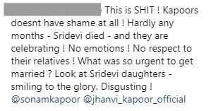 13 mean comment on sonam kapoors wedding