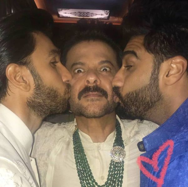 anil  ranveer and arjun - too much love  in one frame
