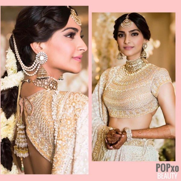 Sonam Kapoor at he mehendi ceremony