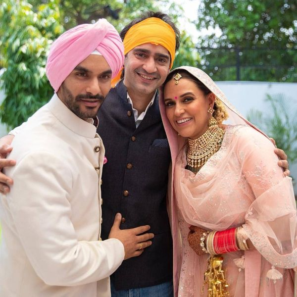 neha dhupia wedding photo with gaurav kapoor