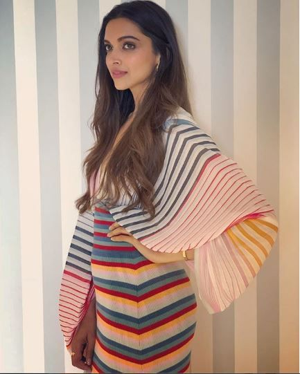 Deepika padukone cannes stripes