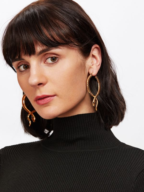 1. hoop earrings snake detail
