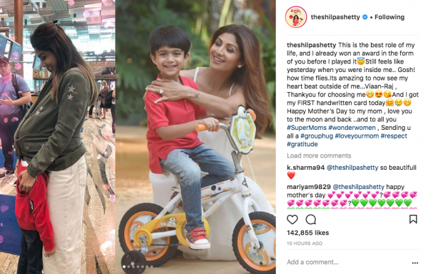 4. mothers day shilpa with son viaan