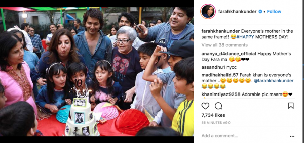 9. mothers day farah khan with twins celebrating birthday