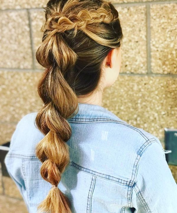 types of braids pul through bubble