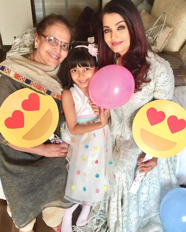 aishwarya roy - mom and daughter