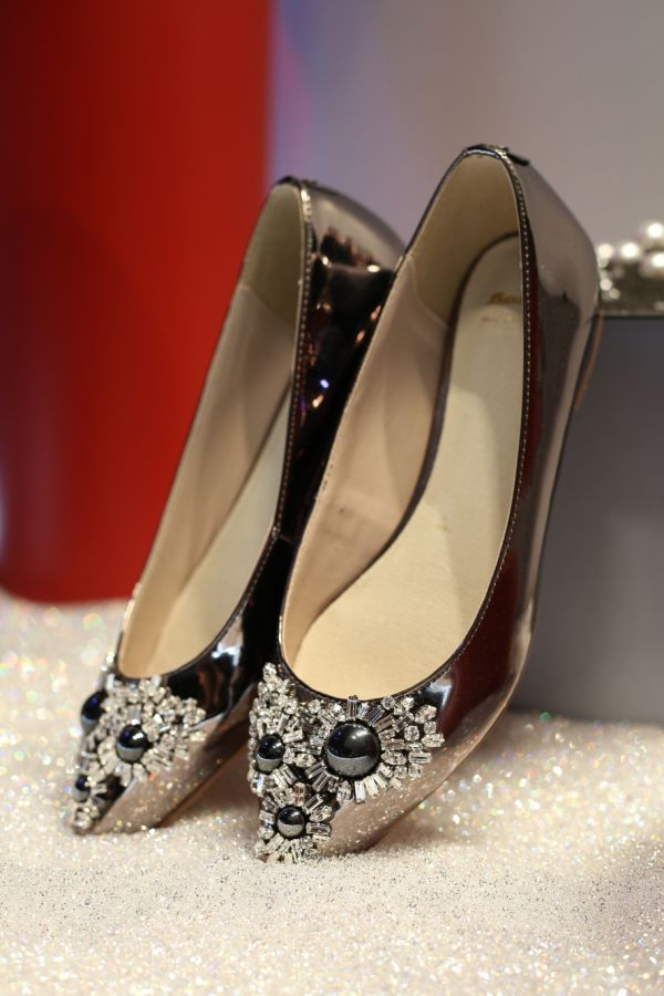 2 shoes - embellished ballerinas
