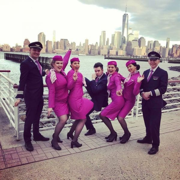 Wow airlines  staff in new york