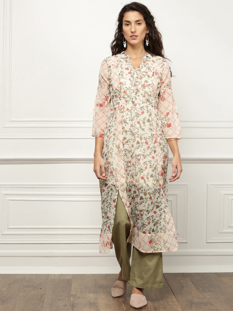 all about you floral kurta discounted kurtas look cool with jeans