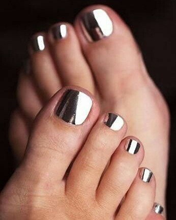 15 toe nail art summer instragram chrome