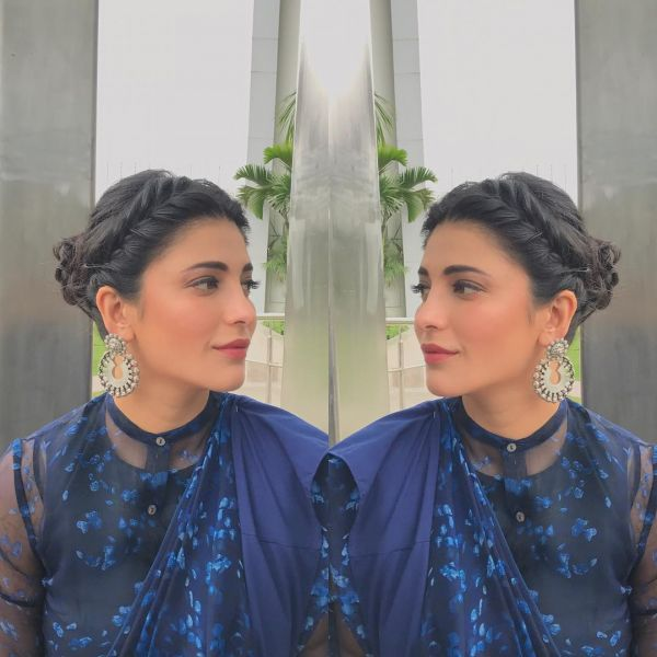 3 shruti hassan instagram french updo braid look hairstyle quick easy heatless