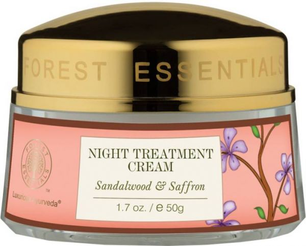 Forest Essentials Night Treatment Cream Sandalwood   Saffron skincare