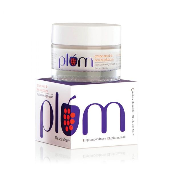 PLUM Grape Seed   Sea Buckthorn Nurturance Night Cream skincare