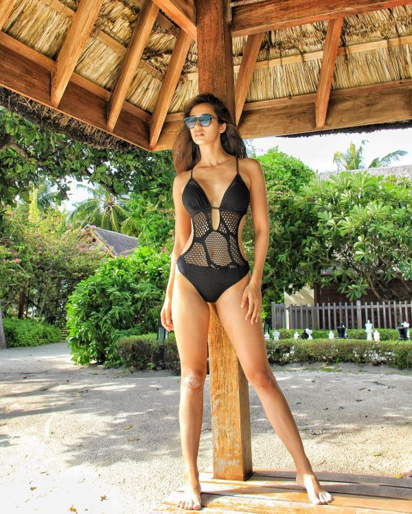 disha patani one piece swimsuits for bikini shy girl