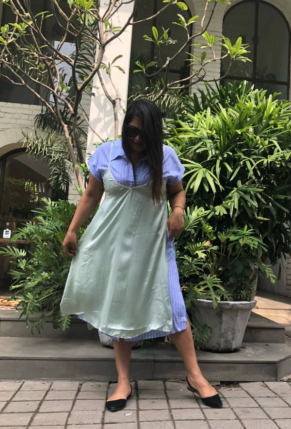 1. arunima in slip dress dress layering new styling hack