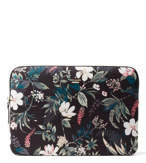 9 kate spade - BLACK BOTANICAL UNIVERSAL LAPTOP SLEEVE CASE
