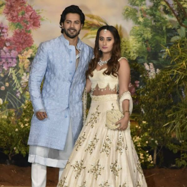 varun and natasha at sonam's wedding Varun GF Natasha Designer Summer Bride