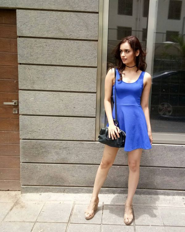 10 manushi chillar - blue h m dress