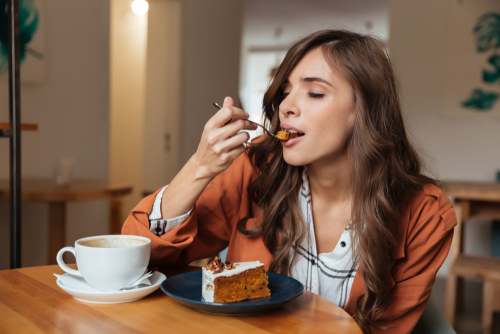 dermatologist  questions to ask your dermatologist  questions girl eating cake and drinking coffee