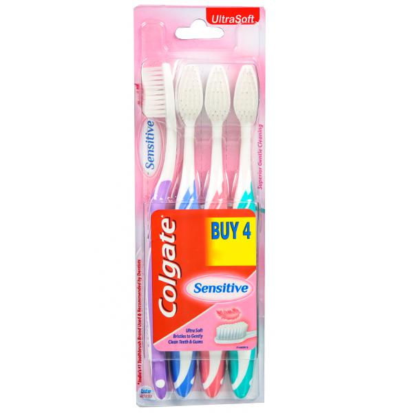 5 Colgate Toothbrush - Sensitive  Ultra Soft  4 pcs