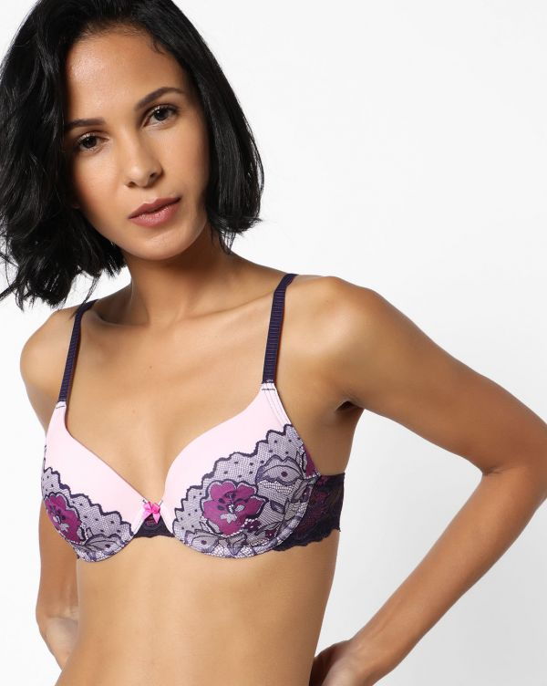 9 lingerie - Underwired Bra with Floral Lace