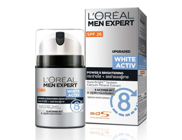 5 L'Oreal Paris Men White Activ Power 8 Brightening Serum Moisturizer SPF 26