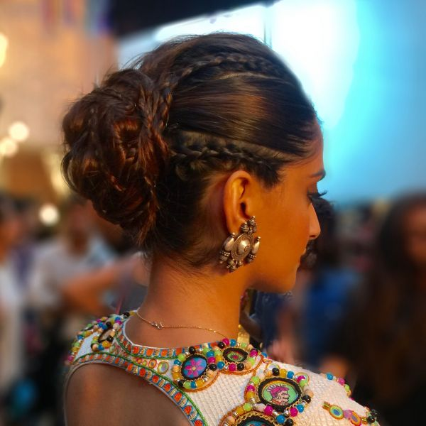 7 sonam kapoor veere di wedding hairstyle hiral instagram cornrow bun