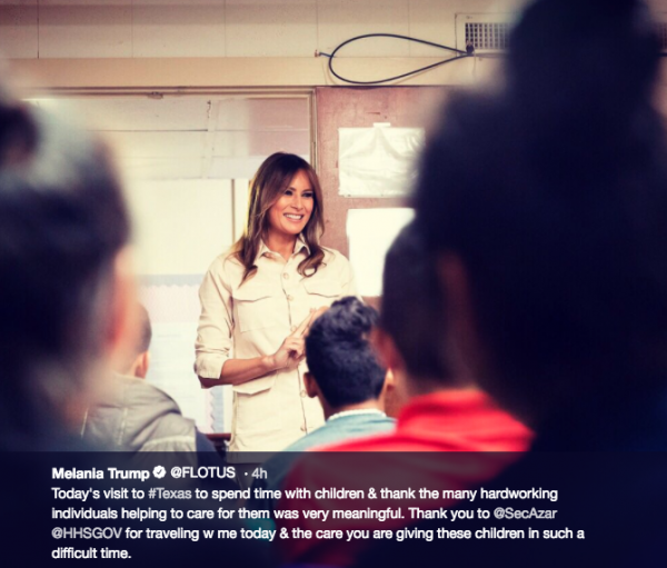 melania visit to detention center