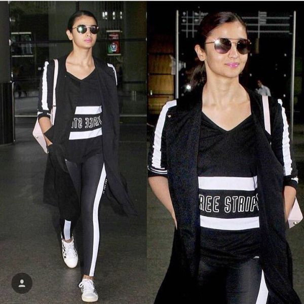 1 Alia bhatt ways to style black tights